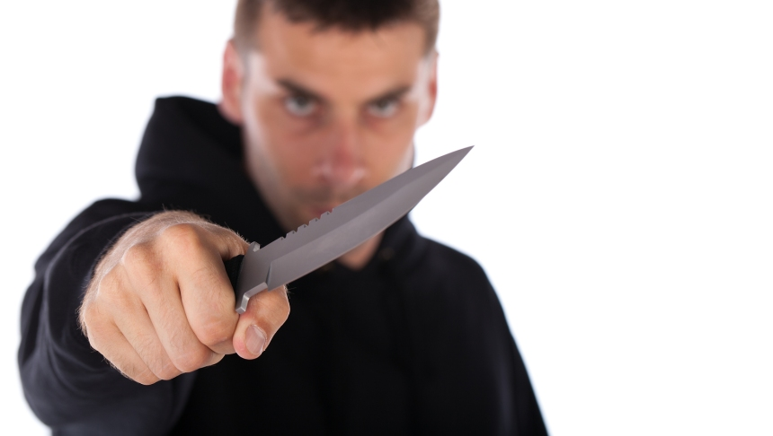 Man Threatening With Knife