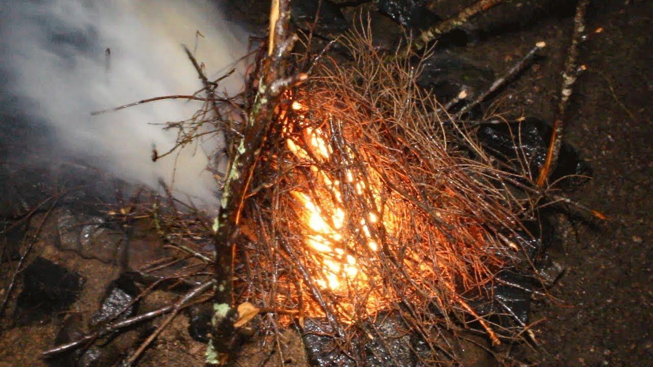 Fogueira na chuva? Teste de cola de sapateiro como isca de fogo! – Sobreviva Ep. 12