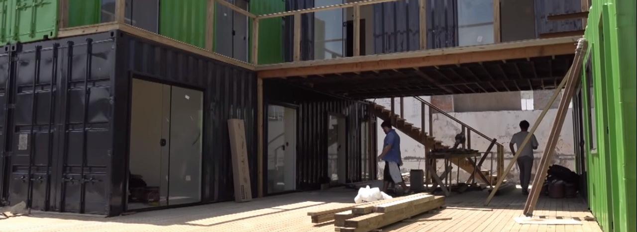 Casa de Container: Visitamos uma obra em andamento!
