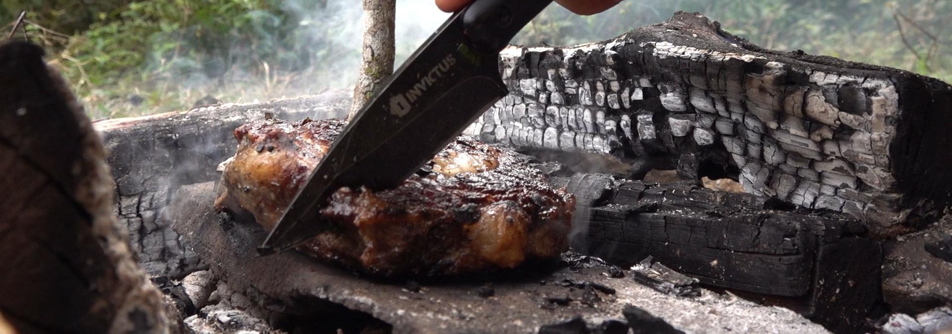 Churrasco primitivo: Bifão amanteigado na pedra! – Sobreviva Ep.25